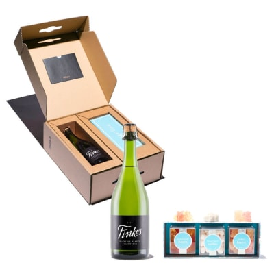 Finke's Sparkling Wine Paired with Sugarfina Wine Gummies
