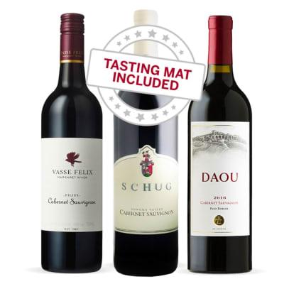 Wine Tasting Trio of Cabernet Sauvignon — With Tasting Mat