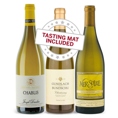 Wine Tasting Trio of Chardonnay — With Tasting Mat