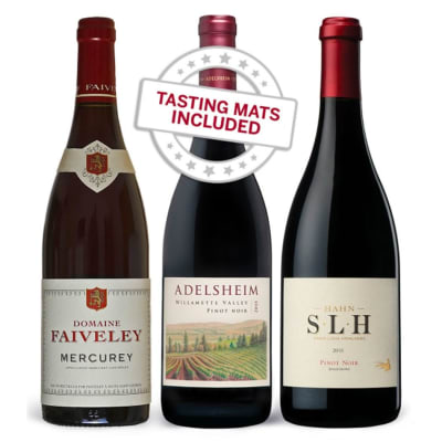 Wine Tasting Trio of Pinot Noir — With Tasting Mat