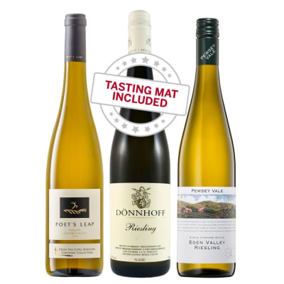 Wine Tasting Trio of Riesling — With Tasting Mat