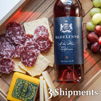 Wine, Cheese, and Salami Pairing - Three-month Wine Club Gift