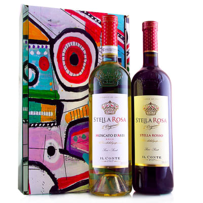 Sweet Red & White Wine Gift of Stella Rosa