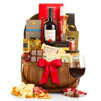 Wine & Cheese Basket Gift