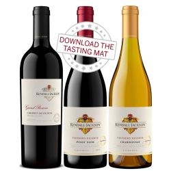 Kendall-Jackson Wine Sampler Set with Online Wine Tasting