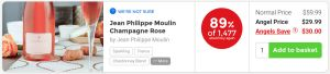 Nakedwines.com Jean Phillippe Moulin Champagne Rosé - 89% of 1,600 would buy again