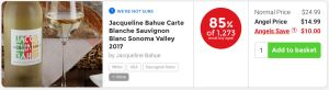 Nakedwines.com Jacqueline Bahue Carte Blanche Sauvingon Blanc Sonoma Valley 2017 - 87% of 885 would buy again
