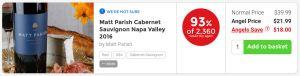 Nakedwines.com Matt Parish Cabernet Sauvignon Napa Valley 2016 - 93% of Angels 2,633 would buy again