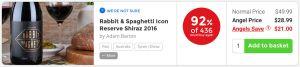 Nakedwines.com Rabbit & Spaghetti Icon Reserve Shiraz 2016 - 90% of 510 would buy again