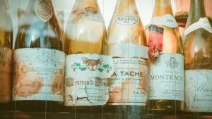Very old wine bottles