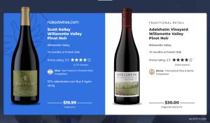 Comparison of Nakedwines.com Oregon Pinot Noir to Adelsheim