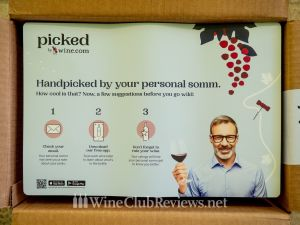 A Tasting Mat for the wine from Picked