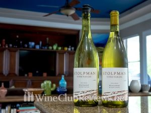 The wine bottles: the two-week old bottle and the new bottle