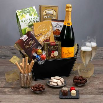 Veuve Clicquot & Chocolates Champagne Gift Basket