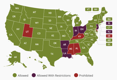 Is it legal for wineries to ship wine to your state?
