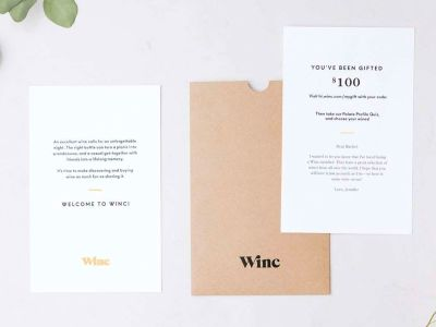 The Winc Gift Letter with Redeemable Code
