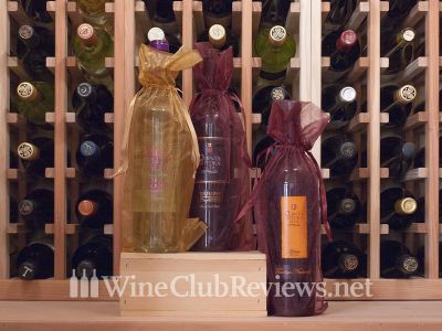 Gift-wrapped International Club wines in the cellar