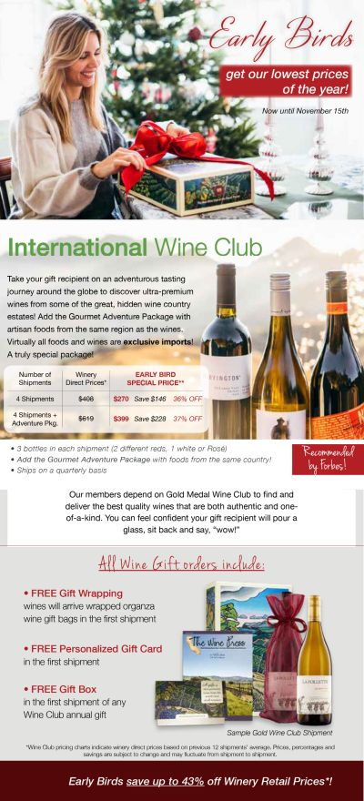 About Gold Medal Wine Club Gifts