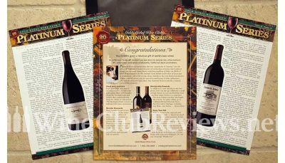 Platinum Wine Education materials