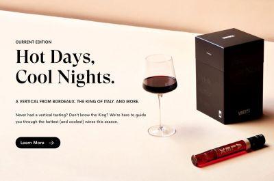 VineBox Hot Days Cool Nights Wine Tasting Box