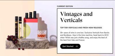 VineBox Vintages and Verticals Wine Tasting Box