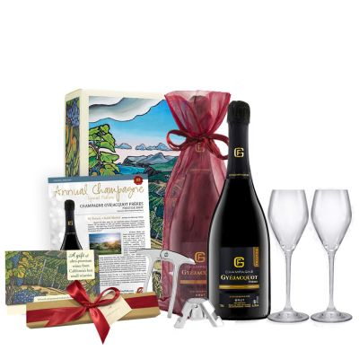 Double Champagne Gift Set with Chocolate Truffles