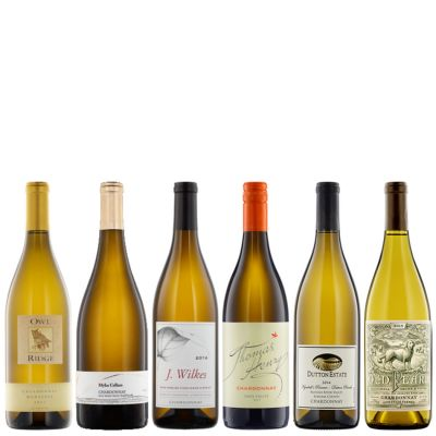 Six Bottles of California Chardonnay