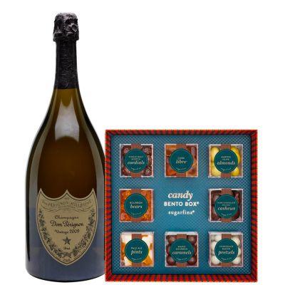 Dom Perignon with Sugarfina Vice Collection Bento Box