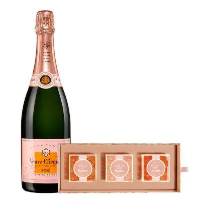 Veuve Clicquot Rosé with Sugarfina Rosé All Day Bento Box