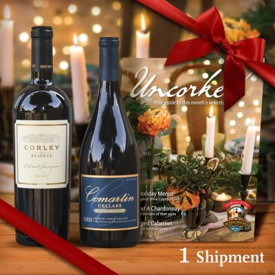 Two-Bottle California Wine Gift — High-end Mostly Red Wine