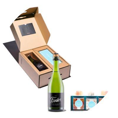 Winc Finkes Widow Sparkling Wine Gift with Wine Gummies from Sugarfina