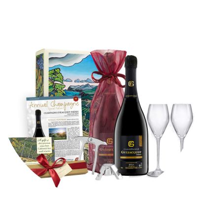 Two-Bottle Champagne & Chocolate Gift from Gold Medal