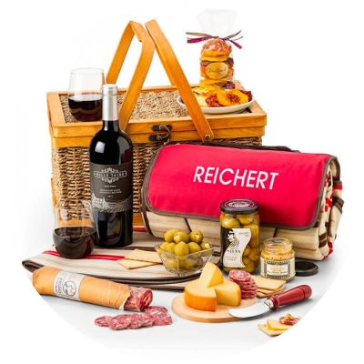 Wine, Cheese, and Charcuterie Picnic Gift