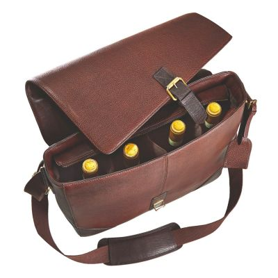 Four-bottle wine messenger bag at Wine Enthusiast