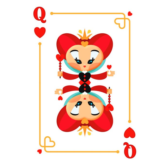 How to Create a Queen of Hearts Playing Card promo image