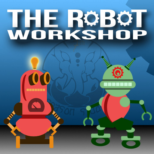 2-D robot workshop asset pack