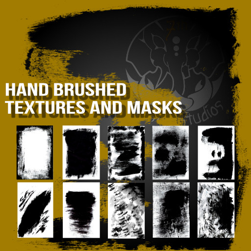 Hand brushed textures and masks