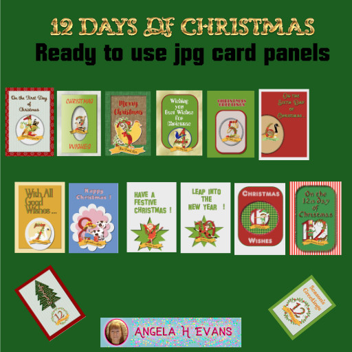 12 Days of Christmas Card Fronts