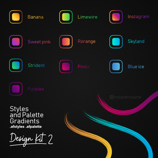 Design Gradients and Styles  Kit 2