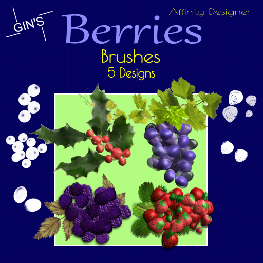 Gin's Affinity Designer Brushes - Berries