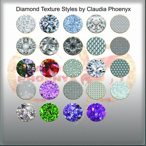 Diamond Texture Styles by Claudia Phoenyx