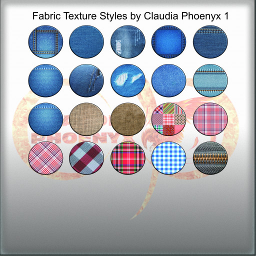 Fabric Texture Styles by Claudia Phoenyx 1