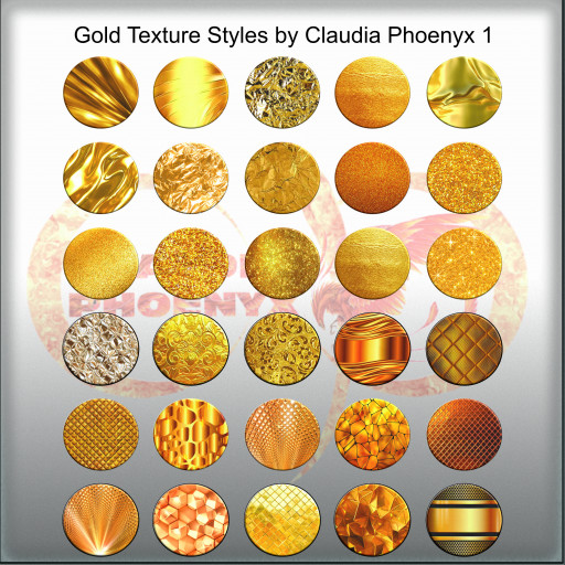 Gold Texture Styles by Claudia Phoenyx 1