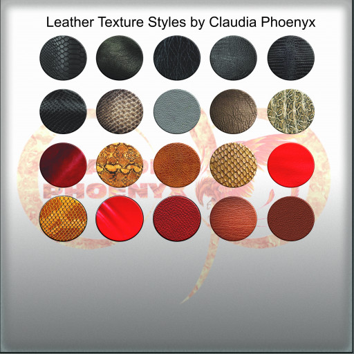 Leather Texture Styles by Claudia Phoenyx