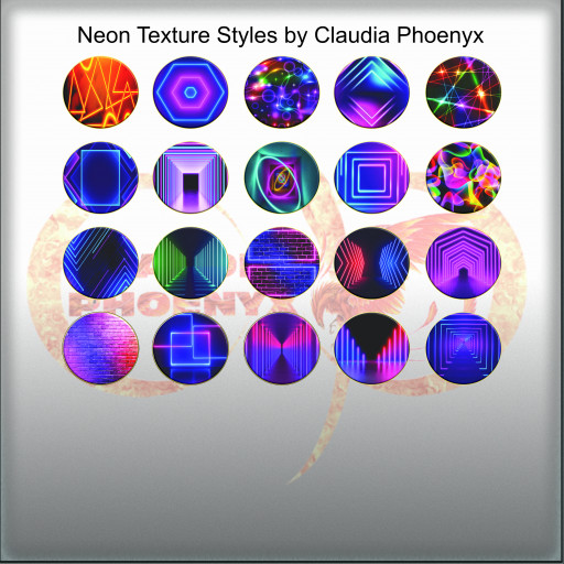 Neon Texture Styles by Claudia Phoenyx