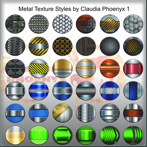 Metal Texture Styles by Claudia Phoenyx 1