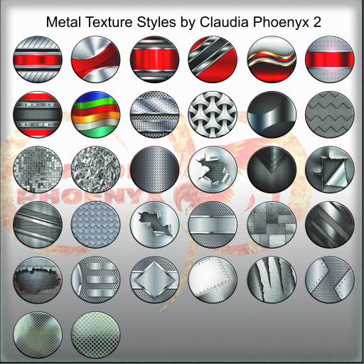 Metal Texture Styles by Claudia Phoenyx 2