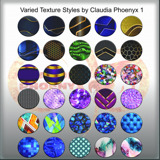 Varied Texture Styles by Claudia Phoenyx 1
