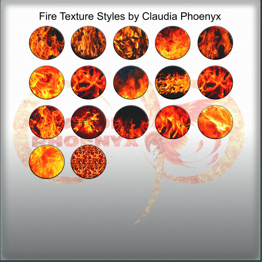 Fire Texture Styles by Claudia Phoenyx