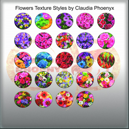 Flowers Texture Styles by Claudia Phoenyx